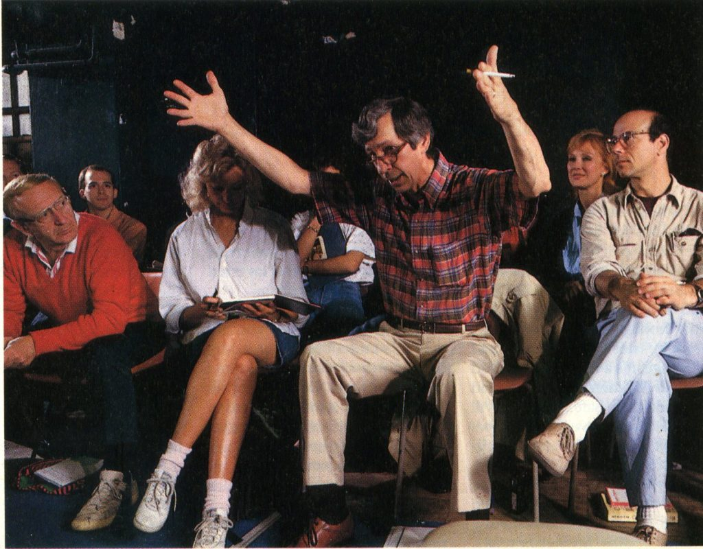 Bruce as Earle Gister's Teaching Associate at the British American Drama Academy (BADA), Balliol College, 1987